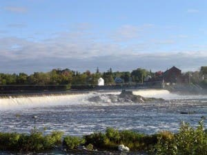 Millford Dam in Maine