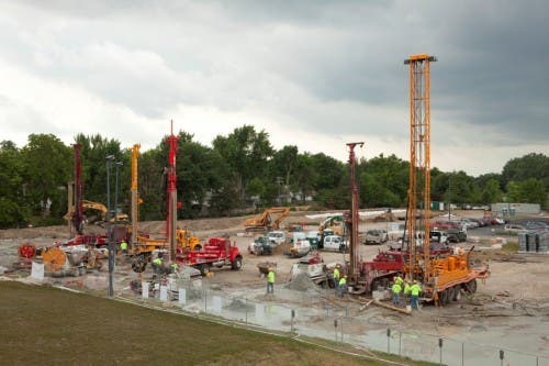 Drilling geothermal wells at Ball State