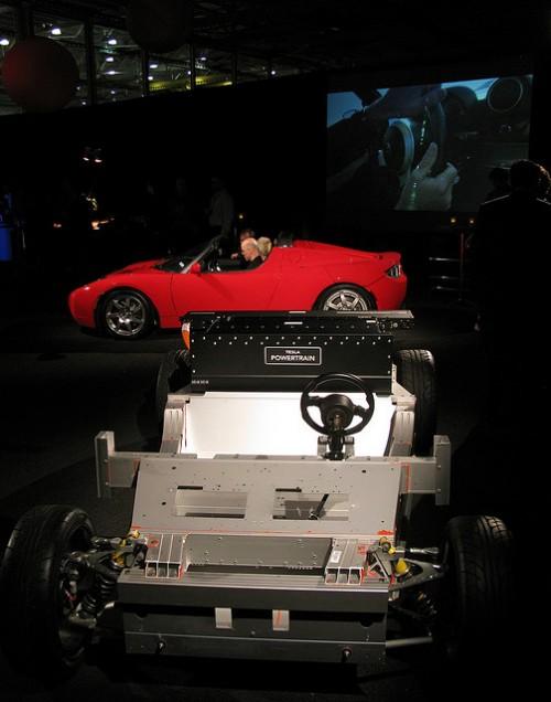 Tesla Roadster - Deskinned Image Credit: Jurvetson on Flickr