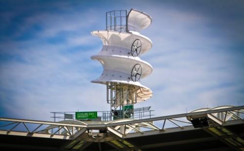 wind turbine cleveland indians stadium