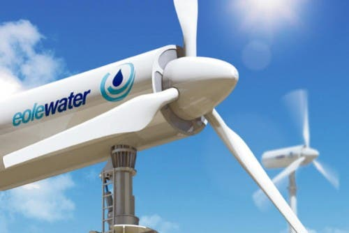 wind turbine creates water eole water