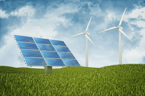 solar, wind and biofuel