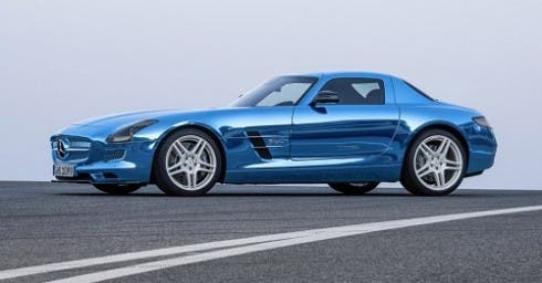 2013 Mercedes-Benz SLS AMG Electric Drive.  Image Credit: Mercedes-Benz.