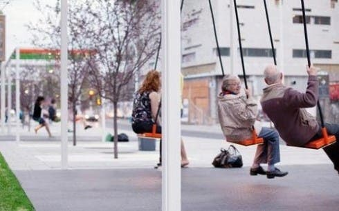 playful spaces bus stop