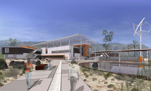 Desert landscaping and design lowers energy and water demand