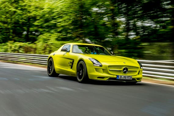 Electric Mercedes-Benz SLS AMG Coupe.