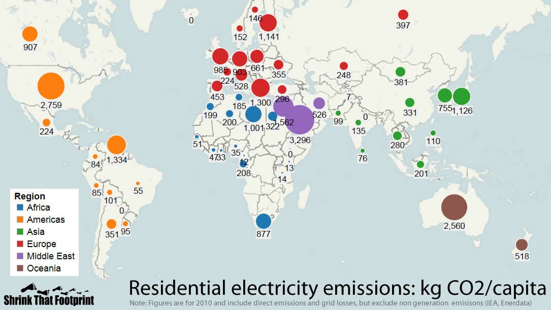 Electricity Emissions Around The World Maps Cleantechnica