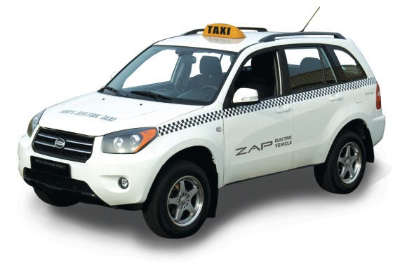 Zap Electric Taxi SUV. Image Credit: Zap Jonway