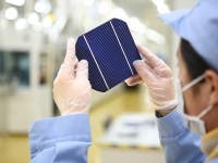 JA Solar multicrystalline solar cell achieves record efficiency of 18.3%.