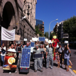 Spain solar protesters