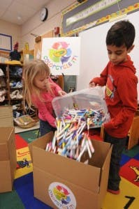 Crayola's COLORCYCLE recycling program at work. Image Credit: Crayola