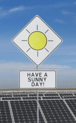cheap solar power plant sunny day cheapest electricity