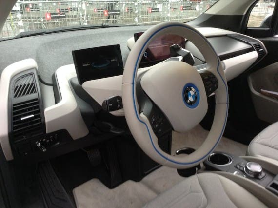 BMW i3 steering wheel
