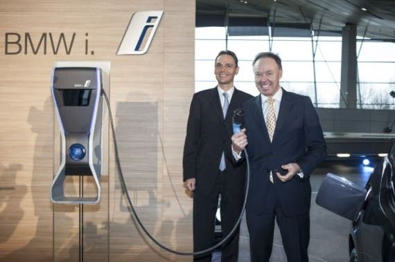 bmw i3 charging station launch