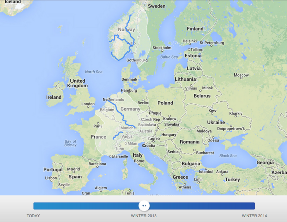 Europe Supercharger Corridors