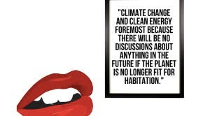 """""""Climate change is on everyone's lips"""" (photo:CleanTechnica/Sandy Dechert)"""
