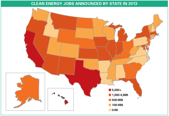 2013 US Green Job Creation