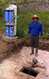 Discovery water purification system for villages.