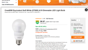 Home Depot Cree LED