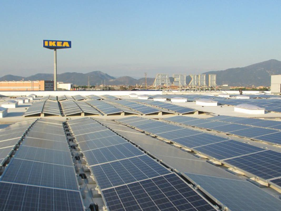 ikea gets unsubsidized rooftop solar power plant in italy. Black Bedroom Furniture Sets. Home Design Ideas