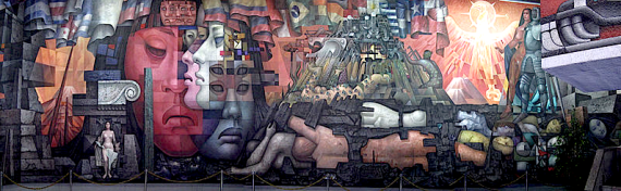 Presencia de America Latina mural, as Chile carbon tax is proposed (wikimedia)
