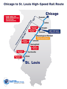 Chicago-St. Louis high speed train route (ILDOT)