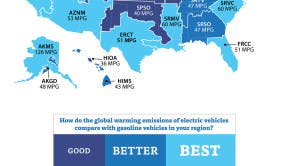 are electric cars greener map