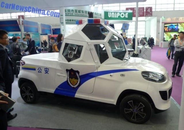 chinese company has developed armored electric police car cleantechnica. Black Bedroom Furniture Sets. Home Design Ideas