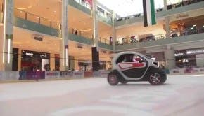 Renault Twizy EV Driven Around Dubai Mall By F1 Team