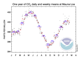 CO2 measurements at Mauna Loa, 2014-2015 (esrl.noaa.gov)