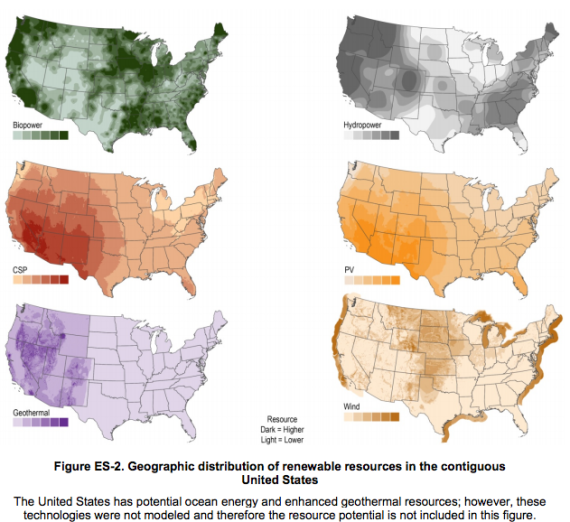 US renewable energy potential