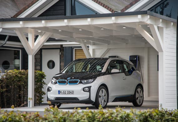 BMW i3 white and black