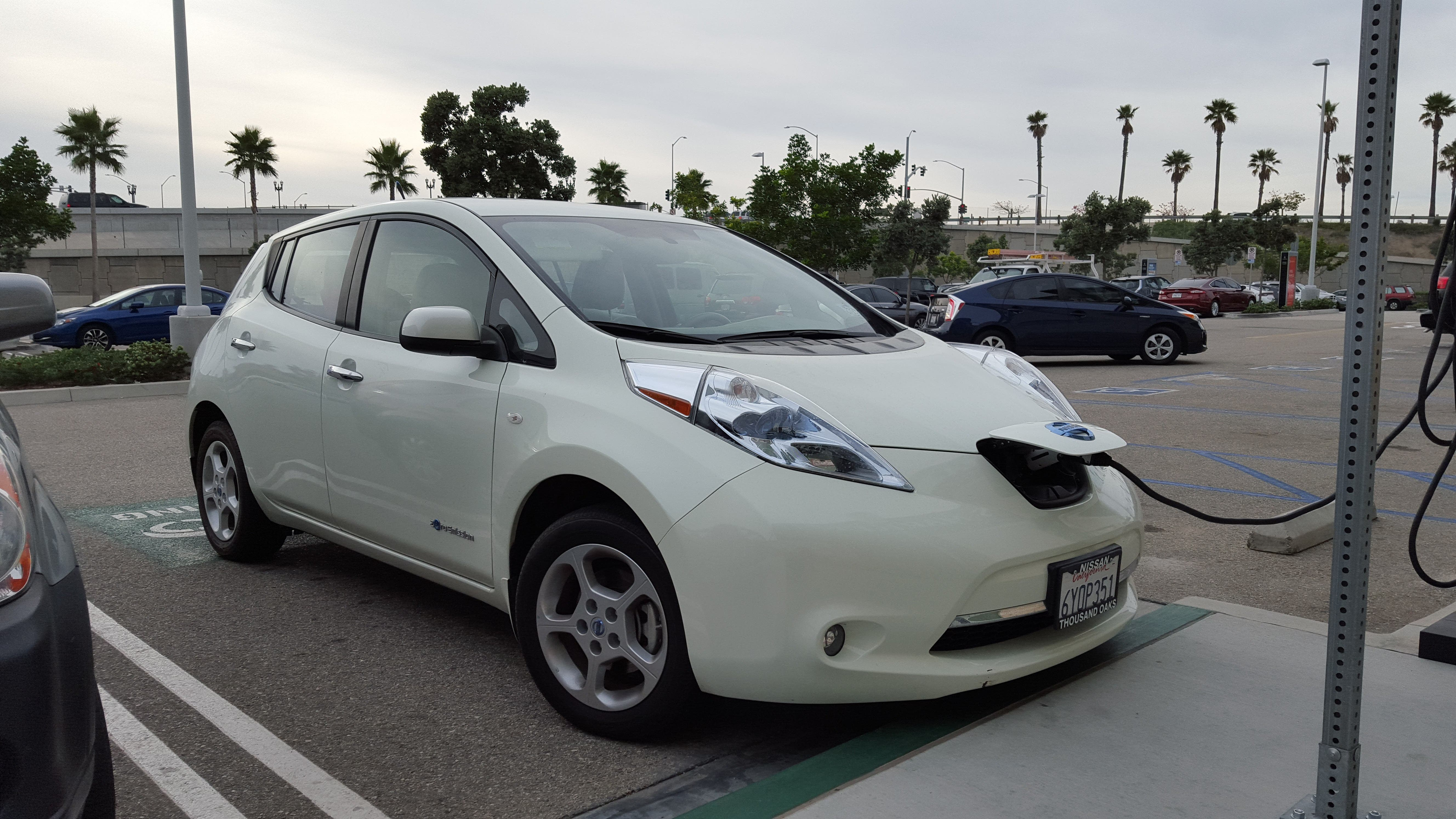 Photo Of The Nissan Leaf Cynthia Shahan Is Reviewing For Cleantechnica By Electric Vehicles