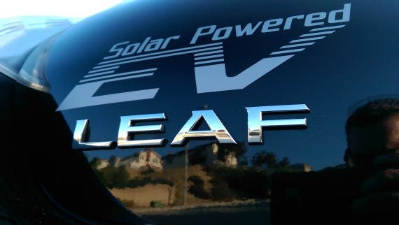 solar powered leaf. Image credit: Kyle Field | CleanTechnica