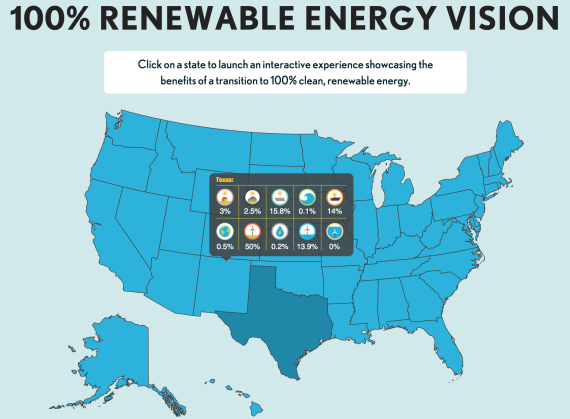 US 100 percent renewable energy