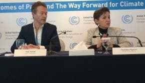 climate change press conference