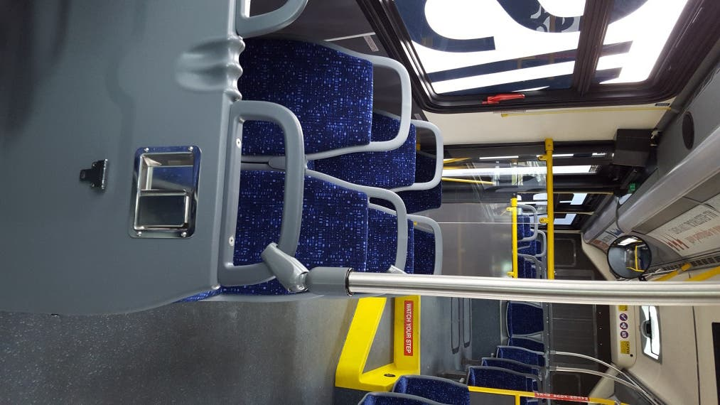 New Flyer electric bus inside 2