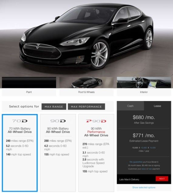 Tesla Drops 85 kWh From Model S Offering