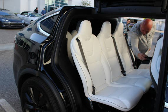 Tesla Model X back seats