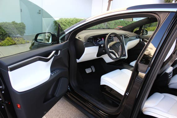 Tesla Model X front seats door