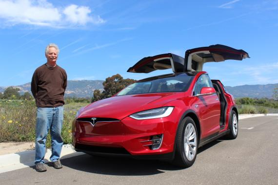 Tesla Model X red 3