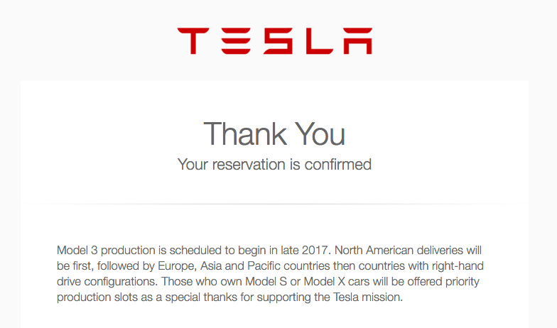 Tesla Already Confirming Early Model 3 Orders Cleantechnica