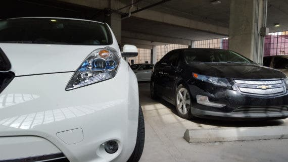 Volt and LEAF front