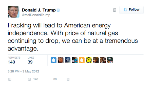 Donald Trump fracking