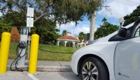Nissan LEAF ChargePoint charging station