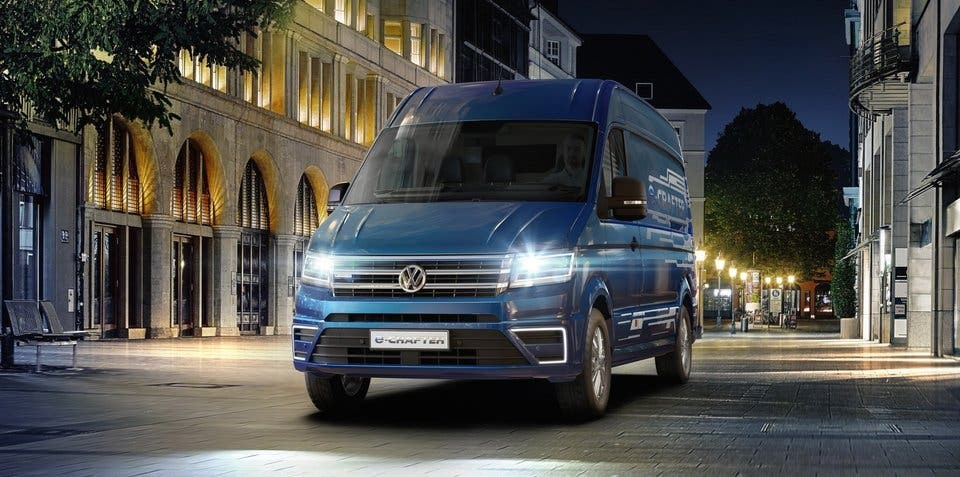 Volkswagen Commercial Vehicles Unveils E Crafter Electric