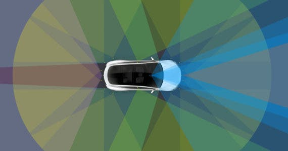 self-driving-tesla