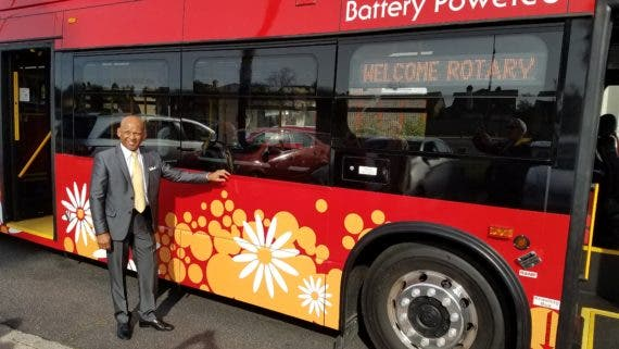 Byd K9 Electric Bus Takes Maiden Trip In Long Beach