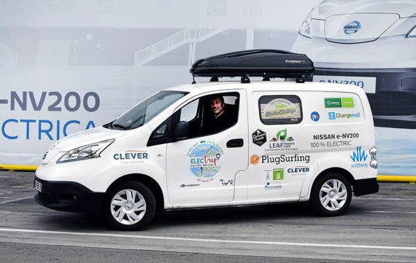 e6c0f1da7ef2f4 There are reportedly no problems with the range of the Nissan e-NV200 — up  to 170 ...