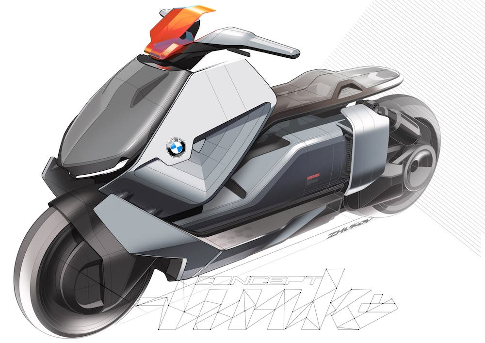 BMW's Motorrad Concept Link Electric Scooter Is Stylish (14